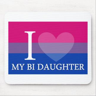 I Heart My Bi Daughter Mouse Pad