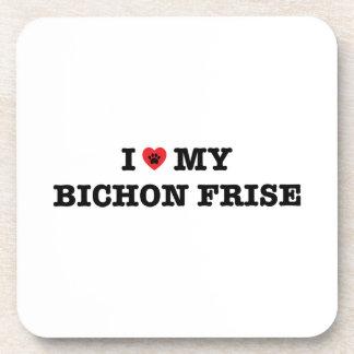 I Heart My Bichon Frise Beverage Coaster