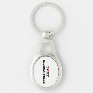 I Heart My Bichon Frise Metal Keychain