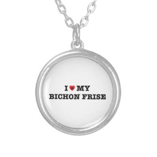 I Heart My Bichon Frise Necklace