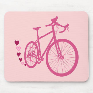 I [heart] my bicycle mouse pad