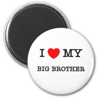 I Heart My BIG BROTHER 2 Inch Round Magnet