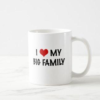 I Heart My Big Family Classic White Coffee Mug