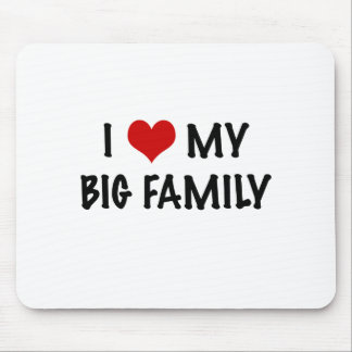 I Heart My Big Family Mouse Pad