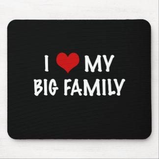 I Heart My Big Family Mouse Pad