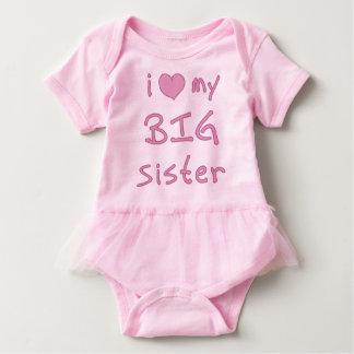 I Heart My Big Sister Love Baby Bodysuit