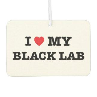 I Heart My Black Lab Car Air Freshener