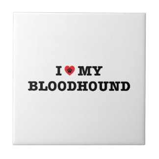 I Heart My Bloodhound Tile