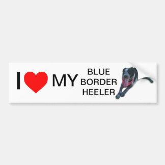 I heart My Blue Border Heeler Car Bumper Sticker
