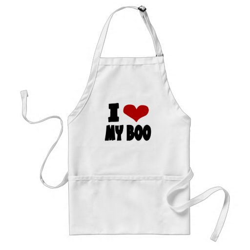 I Heart My Boo With Unusual Red Heart Aprons
