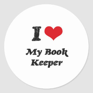 I heart My Book Keeper Round Stickers