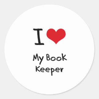 I heart My Book Keeper Stickers