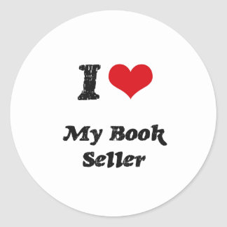 I heart My Book Seller Stickers