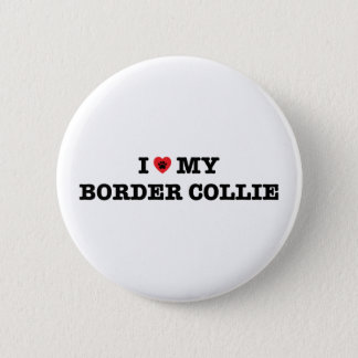 I Heart My Border Collie Button