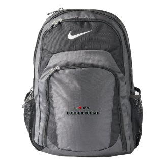 I Heart My Border Collie Nike Backpack