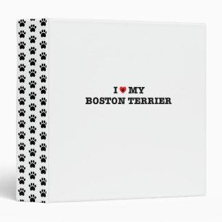 I Heart My Boston Terrier Binder