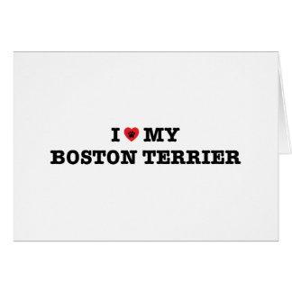 I Heart My Boston Terrier Card