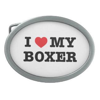 I Heart My Boxer Belt Buckle