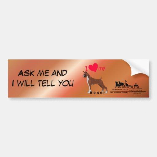 I Heart My Boxer Car Bumper Sticker