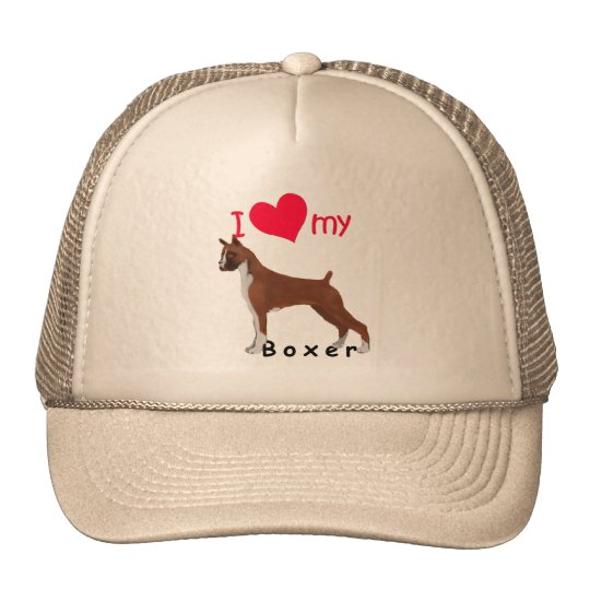 I Heart My Boxer Trucker Hat
