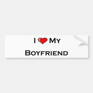 I (heart) my boyfriend  Bumper Sticker