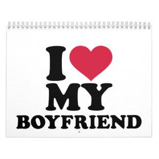 I heart my boyfriend calendar