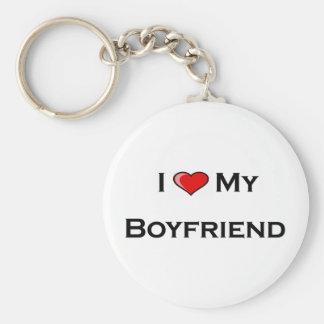 I (heart) my boyfriend Keychain