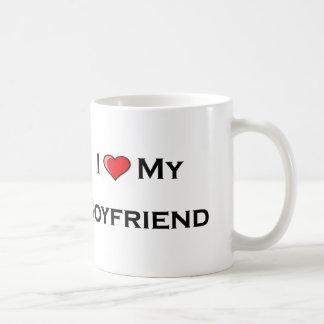 I (heart) my boyfriend  Mug