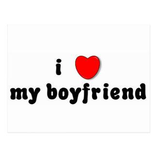 i heart my boyfriend postcard