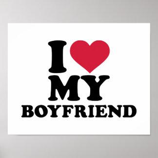 I heart my boyfriend poster