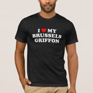 I Heart My Brussels Griffon Dark T-Shirt