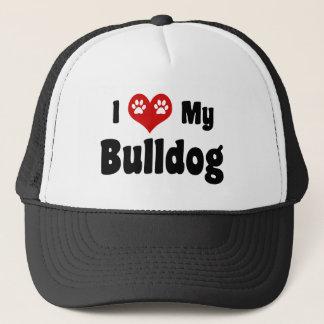 I Heart My Bulldog Trucker Hat