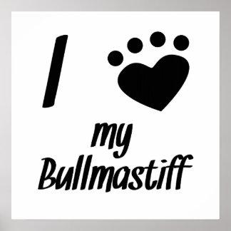 I Heart My Bullmastiff Print