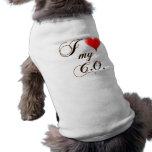 "I ""heart"" My C.O. Dog Shirts Doggie Tshirt"