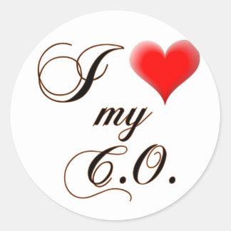 "I ""heart"" My C.O. Sticker"