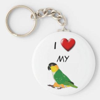 I heart my caique keychain