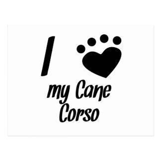 I Heart My Cane Corso Postcard