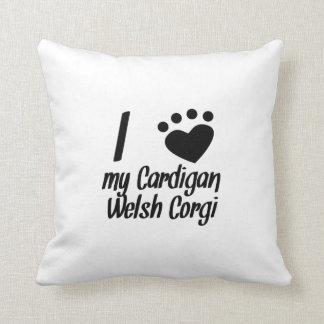 I Heart My Cardigan Welsh Corgi Pillow
