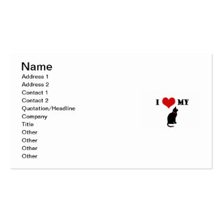 I Heart My Cat Double-Sided Standard Business Cards (Pack Of 100)