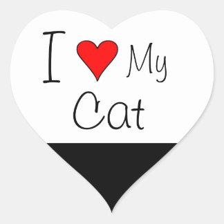 I heart my cat heart sticker