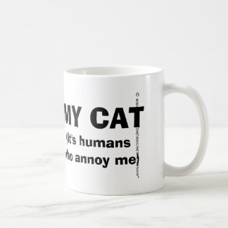 I Heart my Cat, It's Humans Who Annoy Me Mug