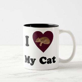 I Heart My Cat Mousepad Two-Tone Coffee Mug