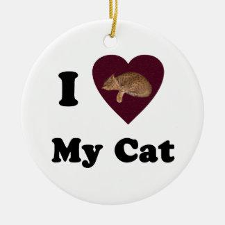 I Heart My Cat Ornament