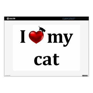 I Heart My Cat Skin For Laptop