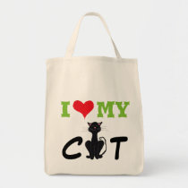 "I ""Heart"" My Cat - Tote Bag"