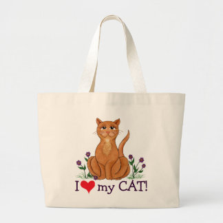 "I ""Heart"" My Cat - tote Bag"