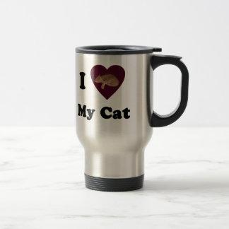 I Heart My Cat Travel Mug