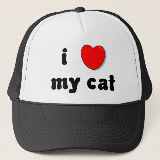 i heart my cat trucker hat