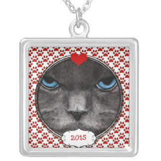 I Heart My Cat Your Photo Necklace