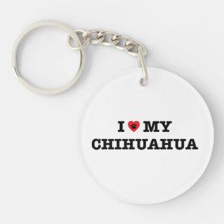 I Heart My Chihuahua Acrylic Keychain